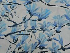 Designers Guild Curtain Fabric 'Shangri-La' Cobalt 3.75 METRES 375CM 100% Cotton