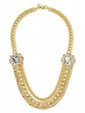 BANANA REPUBLIC GOLD TONE CHAIN REACTION BROOCH NECKLACE NEW IN BAG $79.50