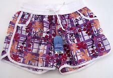 Kinder Shorts BIXTRA  in sommerlich bunter Farbe lila weiß mit Aufdruck Gr. L