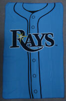 Tampa Bay Rays Logo Jersey Baseball MLB NIP 40 x 62 Fleece Blanket Throw