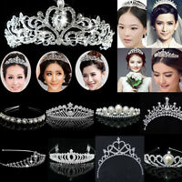 lady girl Bridal Princess shine Crystal Hair Tiara Wedding Crown Headband