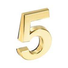 Self Adhesive House Number ABS Plastic for House Mailbox Address Sign Gold Tone