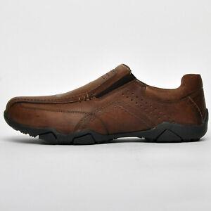 SALE - Red Tape Derwent REAL LEATHER Mens Casual Slip on Designer Comfort Shoes