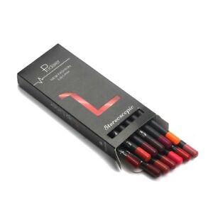 12 colors Set Waterproof Pencil Lipstick Long Lasting Makeup Matte Lip Liner Pen