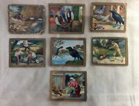 Turkish Trophies Cigarette Cards Fable Series Lot of 7 1910s 1920s Antique