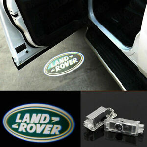 2Pcs For Land Rover Logo LED Projector Door Welcome Ghost Courtesy Puddle Lights