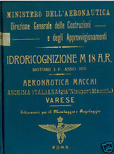 Macchi M.18 Italian Flying Boat Very rare 1920's WWI historic archive manual