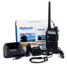 New Walkie Talkies Retevis RT5R Dual Band 2-Way FM Radio 128CH with Earpiece AU