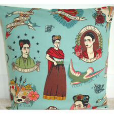 "Frida Kahlo Cushion Cover 16"" Duck Egg Todo Para Ti Art Fashion Designer Rare"