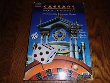 Caesars World of Gambling (Philips CD-i, 1991) cdi Complete Long Box with Sleeve
