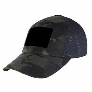 Condor Mesh Tactical Cap (Multicam Black, One Size Fits All) Adjustable