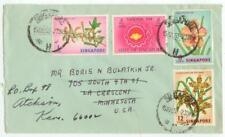 July 15, 1963 Singapore cover to Minnesota - 1959-63 self-government period