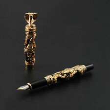 2016 New Model Jinhao Snake (Cobra) Golden Fountain Pen Fine Nib