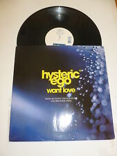 "HYSTERIC EGO - Want Love - 1996 UK 4-track 12"" Vinyl Single"