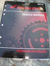 HONDA FACTORY SERVICE MANUAL TRX500FM1/FE1/FM2/FE2 - 2014 - 61HR400
