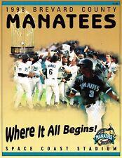 BREVARD COUNTY MANATEES MINOR LEAGUE BASEBALL 1998 PROGRAM