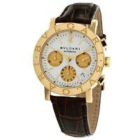 Bulgari Bvlgari Chronograph BB38GLCH 18k Gold Automatic Watch Box and Extra Band