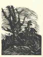 Walter WELLENSTEIN - An dem KAHLEN BAUM - OriginalHolzschnitt 1925