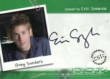 CSI Series 1 Eric Szmanda as Greg Sanders A4 Auto Card