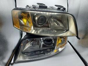 02-04 Audi C5 A6 OEM Driver & Passenger Side Xenon Headlight Set 155 923-00 *924