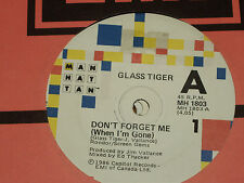 """GLASS TIGER *RARE 7"""" 45  ' DON'T FORGET ME (WHEN I'M GONE) ' 1986 VGC+"""
