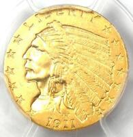 1911-D Indian Gold Quarter Eagle $2.50 Coin (Strong D) - PCGS AU58 - $5000 Value