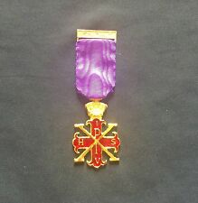 Red Cross Of Constantine Past Sovereigns Breast Jewel (new ) Free Jewel Holder