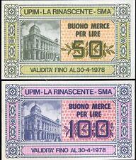 BUONI D'ACQUISTO 1977/78 UPIM LA RINASCENTE SMA/3 DIVERSI/PAPER MONEY FDS/UNC