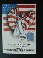american dance festival of USA culture maximum card 1990