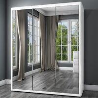 Lexi White High Gloss Triple Wardrobe With 3 Mirrored Doors BUN/LEX014/69693