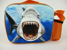 ADVENTURE PLANET 3-D SHARK LUNCH PACK INSULATED ORANGE, SEE CONDITION