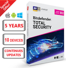 Bitdefender Total Security 2020 Version - 5 Years 10 Devices - FAST Download