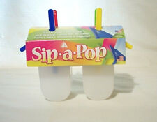Sip-A-Pop Freezer Popsicle Molds w/ Built-In Straws ~ New