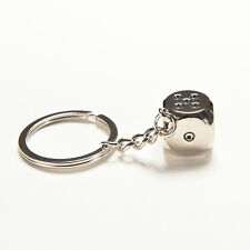 Dice Keychain Brand New High-class Car Key Ring Chain Metal Pendant LTUS