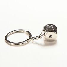 Dice Keychain Brand New High-class Car Key Ring Chain Metal Pendant TYY