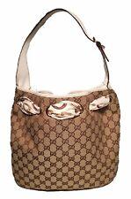 Gucci Monogram Canvas and Silk Scarf Shoulder Bag