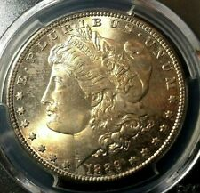 🔥 1889-S 🔥 PCGS MS63 🔥 Morgan Dollar Light Toning both sides gold colors 🔥