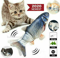Electric Realistic Interactive Fish Cat Kicker Crazy Dancing Pet Toy Catnip Toys