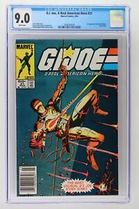 G.I. Joe, A Real American Hero #21 - CGC 9.0 - 1st App of Storm (Newsstand)