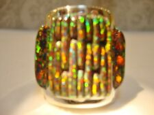 RARE 14 15 HUGE BRILLIANT RED FIRE OPAL MENS Ring!! Sterling Silver 925 $495