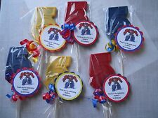 12 Transformers Optimus Prime 5th Birthday Chocolate Lollipop Party Favor