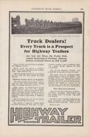 1919 Highway Trailer Truck Trailer Co Ad / Edgerton WI