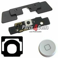 iPad 2 White Home Button Key + Bracket Replacement for A1395, A1396, A1397