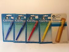 Vintage Gerber Care Baby Toothbrush Lot Of Five 1991 & 1989 #76083 Soft Children