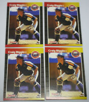 (4) Craig Biggio HOF RC Houston Astros 1989 Donruss Rated Rookie Card Lot  #561