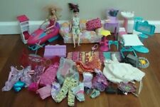 Barbie Skipper Play Set Mixed Lot Clothes Couch Toilet Sink Snowmobile Bag Etc