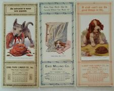 Vintage Calendars Dog Art by Robert Dickey - German Shepherd Cocker Spaniel