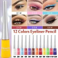 Colorful Eyeliner Pencil Neon Green White Matte Liquid Waterproof Makeup Women