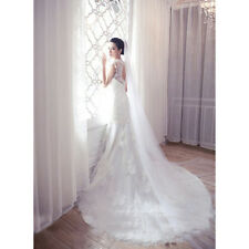 2 3 5m White Trailing Cathedral Length Wedding Bridal Long Veil Church Accessory