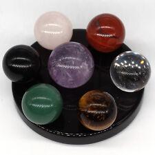 7 Star Array Chakra Stones Crystal Sphere Ball Reiki Healing Natural Gem Set